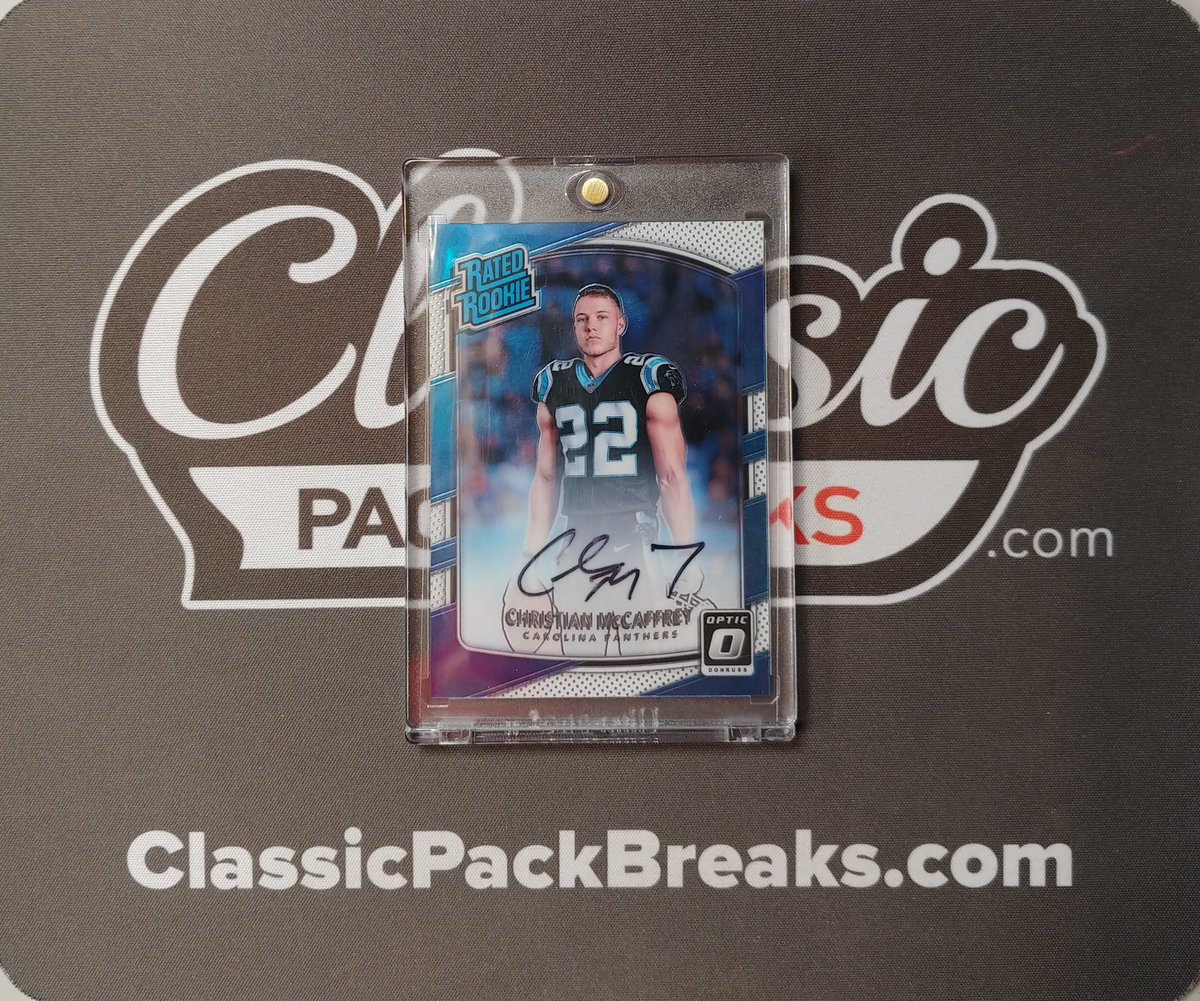 🏈2017 Optic Football Christian Mccaffrey Autograph!! The latest in a long line of #bangers at https://t.co/a2wE8d9bxN!! Subscribe and join us at https://t.co/nDNw1BcoLF!! #whodoyoucollect #TheHobby #baseballcards #footballcards #onlinecardshop https://t.co/u3X9xpzzHH
