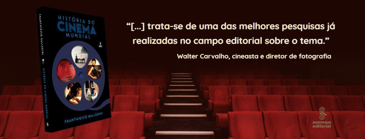 """RT gruposummus """"Conheça o lançamento da Summus HISTÓRIA DO CINEMA MUNDIAL, de Franthiesco Ballerini: https://amzn.to/2Uv453b  #oscar #oscar2020 #cinema #historiadocinema #historiadocinemamundial #cinefilos #industriacinematografica #setimaarte pic.twitter.com/tQGePVpAp3"""""""