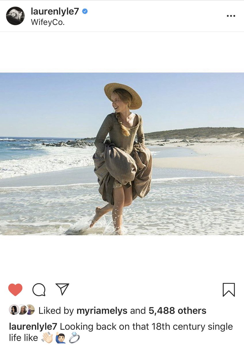 """Some #Outlander wedding attire photos are trending today. Is #MarsaliFraser a bridesmaid? She is definitely a fashionista so show us your """"in-style"""" #MarsaliMoments. 👒 Starting off down the runway with a photo from @LlaurenLyle Instagram taken by @CesarDomboy."""