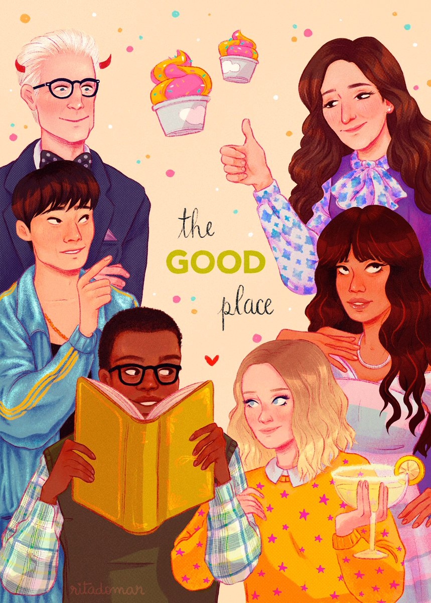 A week ago I finished @nbcthegoodplace and cried a lot! Everything is fine.