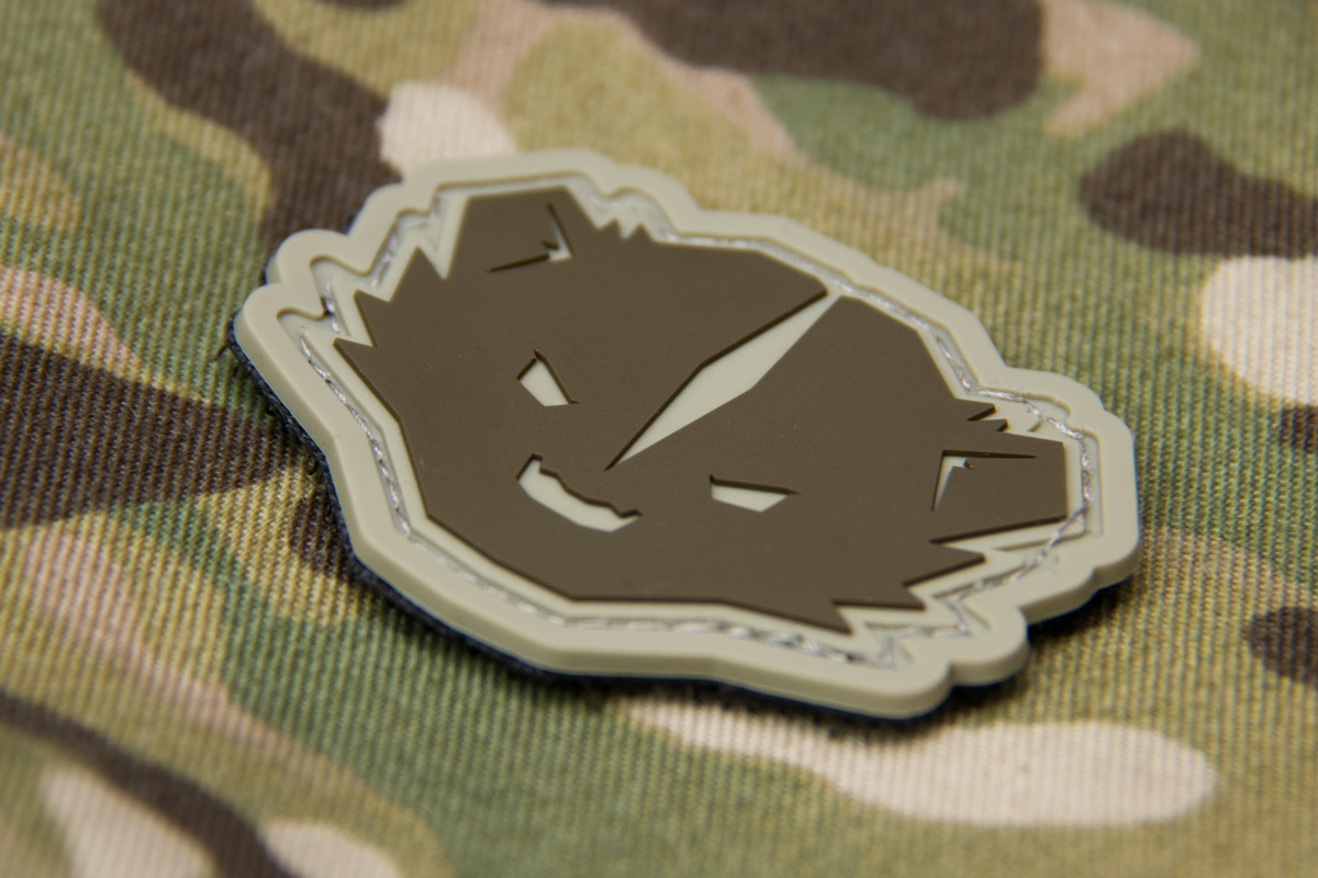 Double Tap Chewing Gum Grey Airsoft Patch