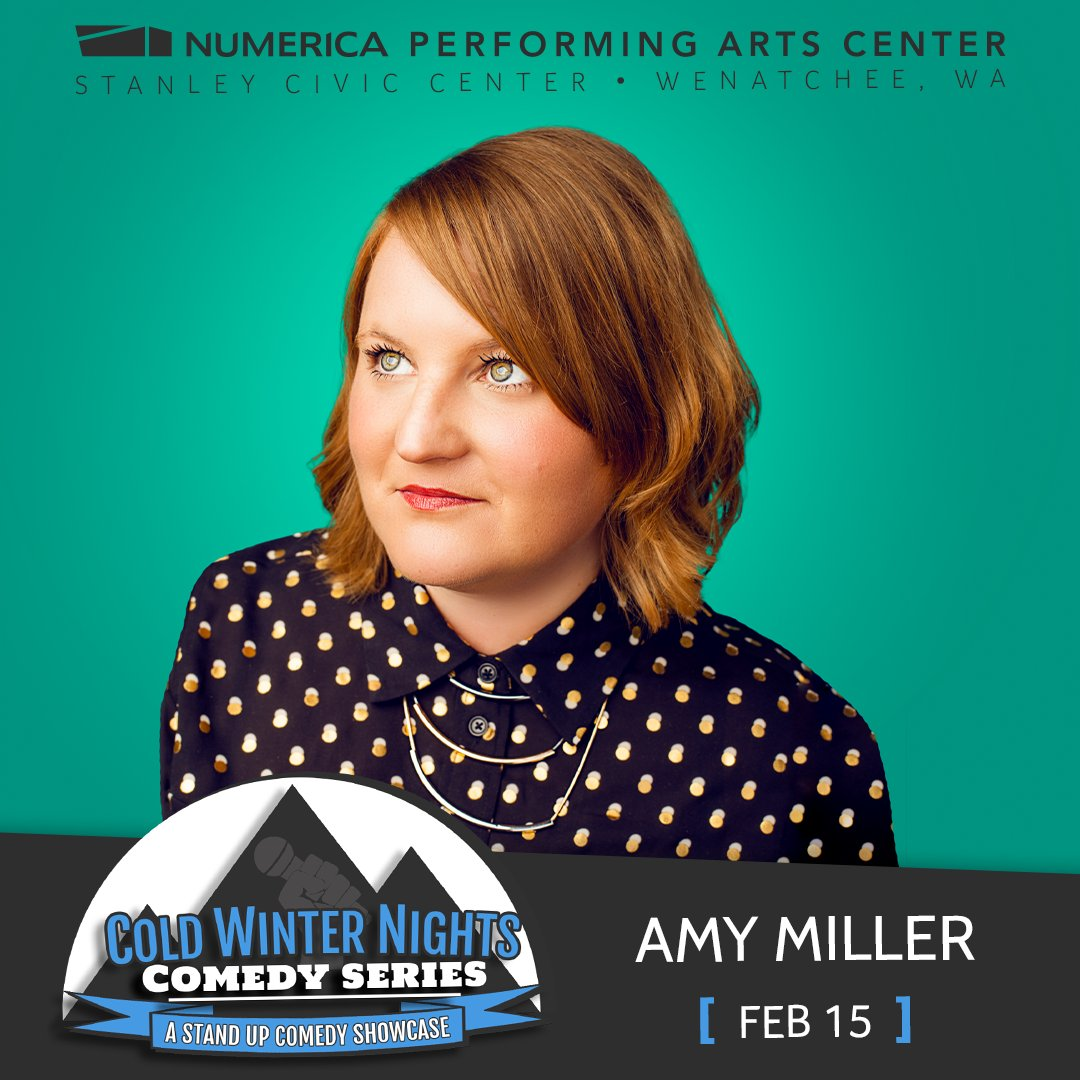 There are only 10 tickets left to see Comedian, Amy Miller next Saturday on February 15 at the Numerica Performing Arts Center! Get your tickets while they are still available at the Numerica PAC box office or at http://www.numericapac.org!  #Wenatchee #Comedy #NumericaPACpic.twitter.com/17sCavqOWq