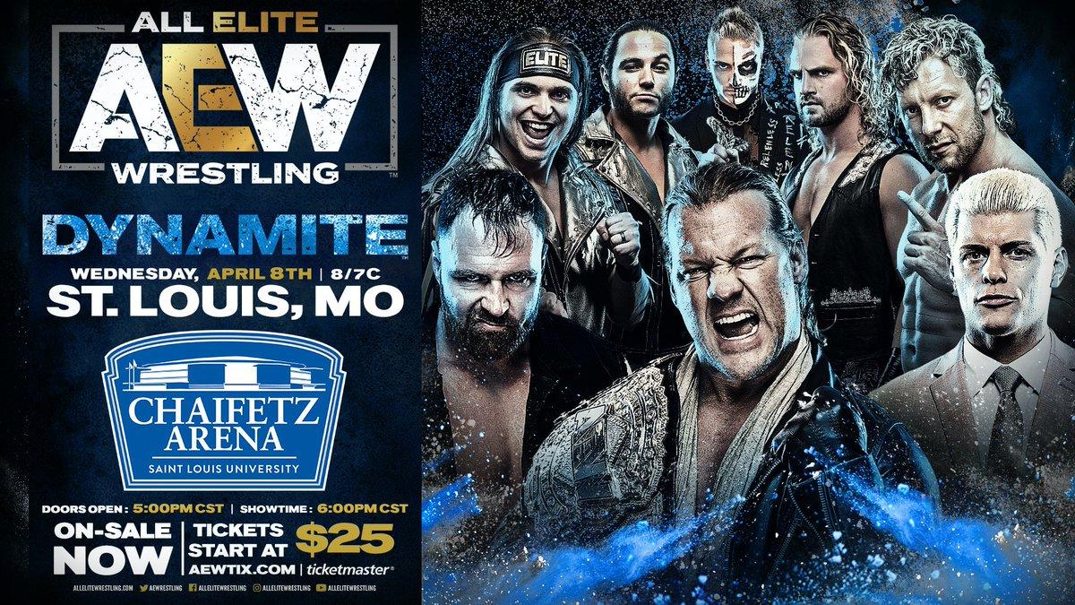 AEW Dynamite Milwaukee & Dynamite St. Louis Shows Announced