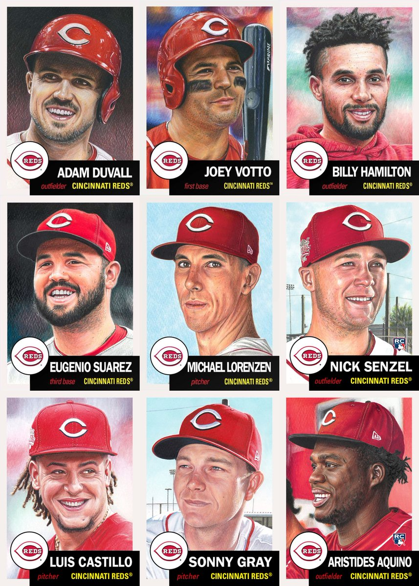 Here are the updated #ToppsLivingSet team sets for the Cincinnati Reds and Tampa Bay Rays with the latest additions of Aristides Aquino and Kevin Kiermaier respectively.  Reds - 9 Rays - 10