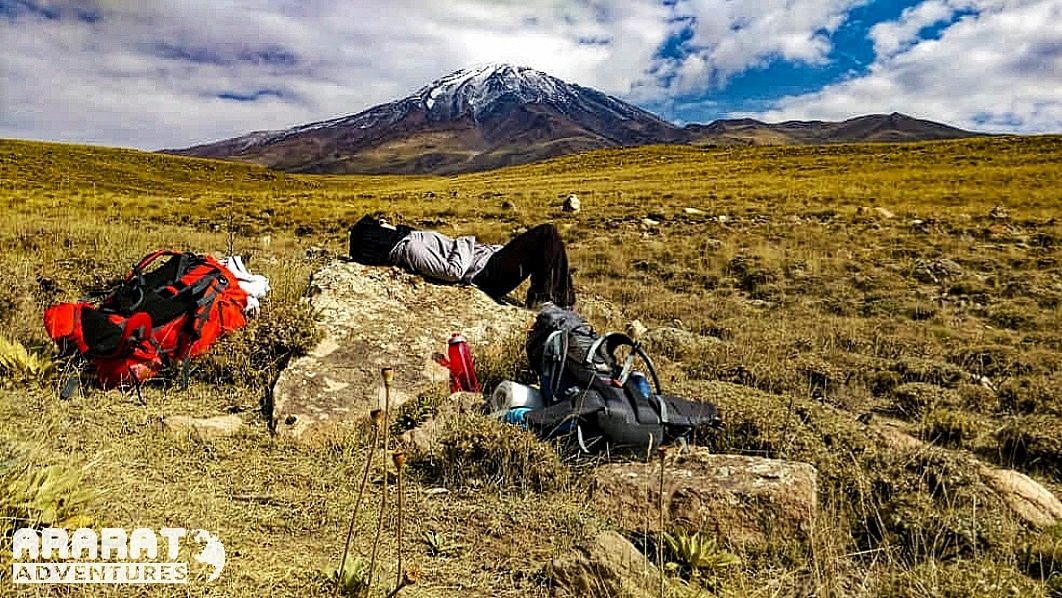 Short #rest after descent from #Mount #Damavand, the highest #mountain of #Iran.  Next trekking tour is planned for 6- 12 July 2020  Visit our website for more details: http://www.araratadventures.com    #trekking #hiking #outdoors #adventure #nature #Persia #mountains #landscapepic.twitter.com/6lFT18ukai