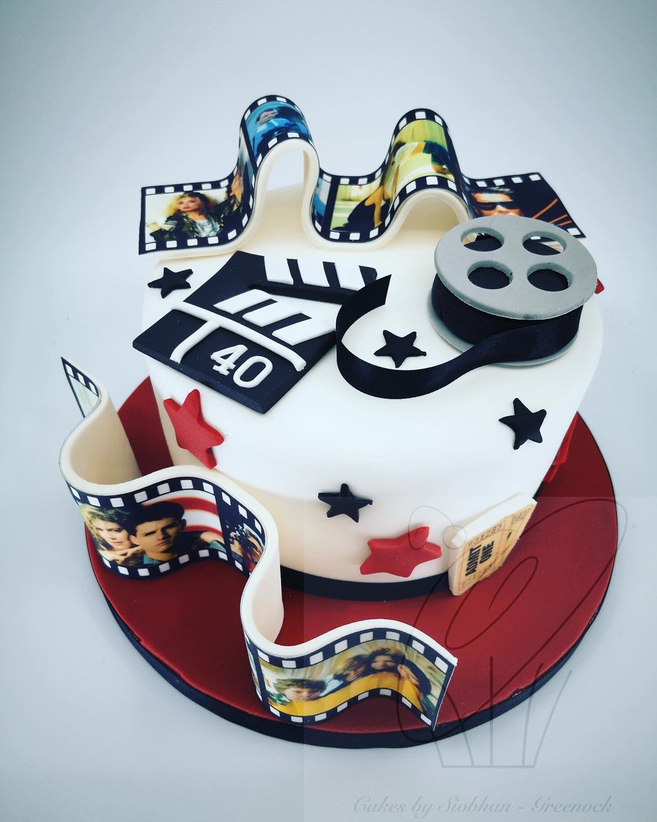 Remarkable Siobhan On Twitter A Movie Themed Birthday Cake For A 40Th Funny Birthday Cards Online Alyptdamsfinfo