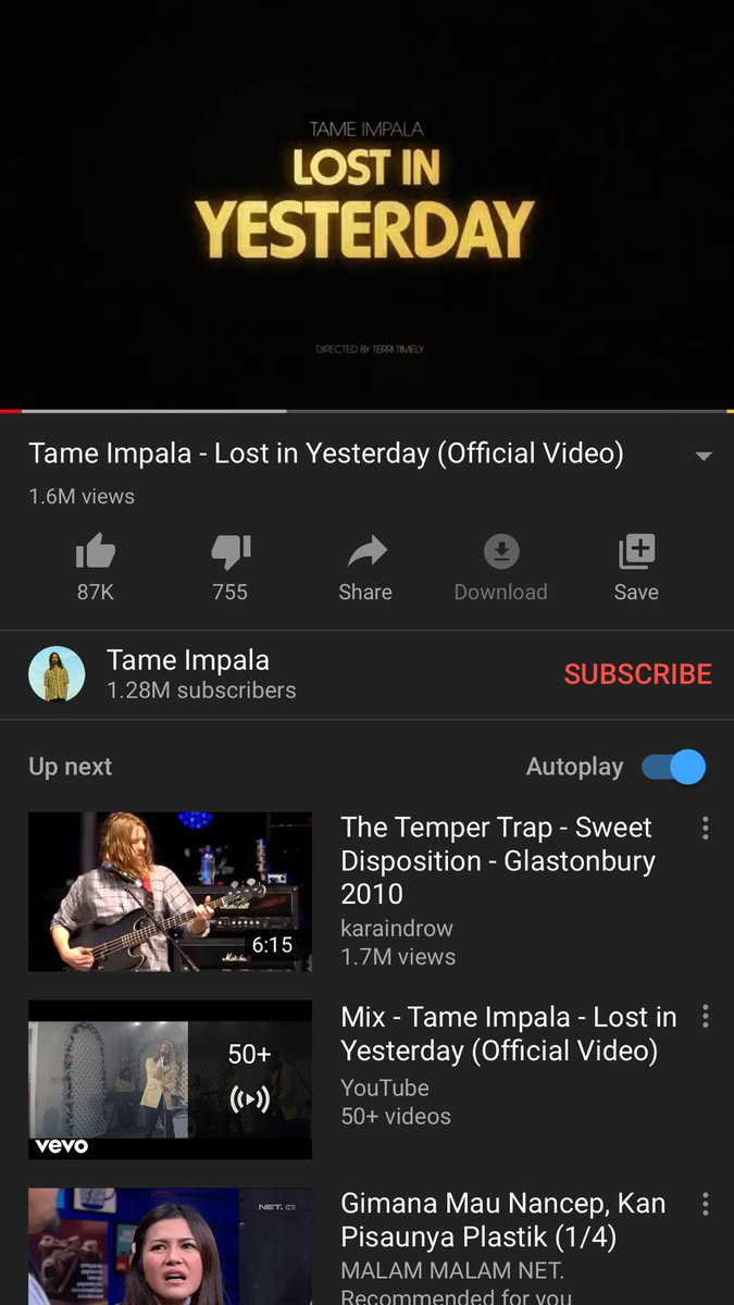 it's pretty fucked up  #tameimpala #lostinyesterday