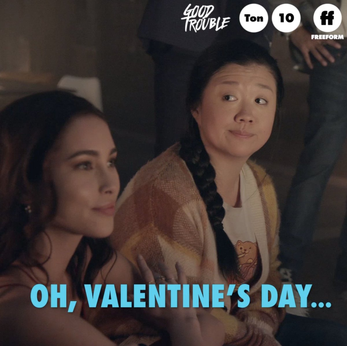 Never have I ever ... oh wait, we've done everything.  __________________________ Good Trouble is all new tonight with a special Valentine's Day episode. Don't miss it at 10p/9c on @FreeformTV.