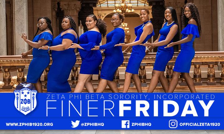 FINER Womanhood is what sets us apart! #zetaphibeta #zphib2020 #FinerFridays pic.twitter.com/dz4sUZ28fm