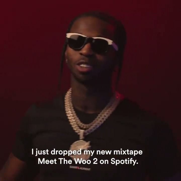 Time to meet the woo 💫 Stream @POPSMOKE10's new mixtape right now spoti.fi/39jp4tI