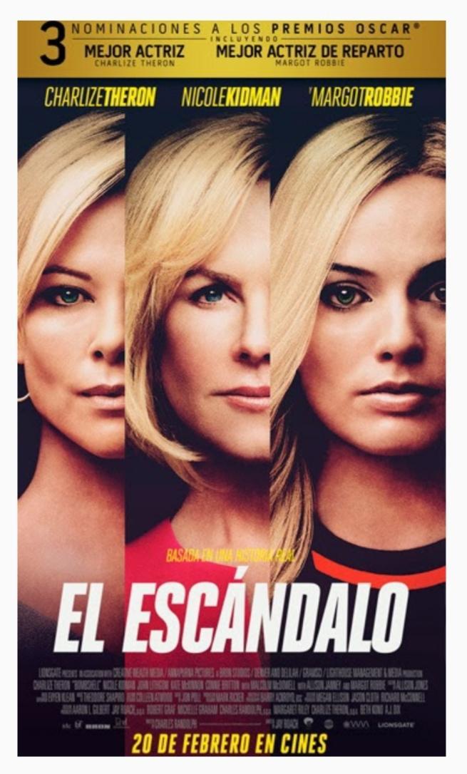 #BuenViernes porque empezó en el #cine con #escandalo #Bombshell que me gustó  mucho! #feministpower @BFDArgentinapic.twitter.com/DVP9RSGkuH