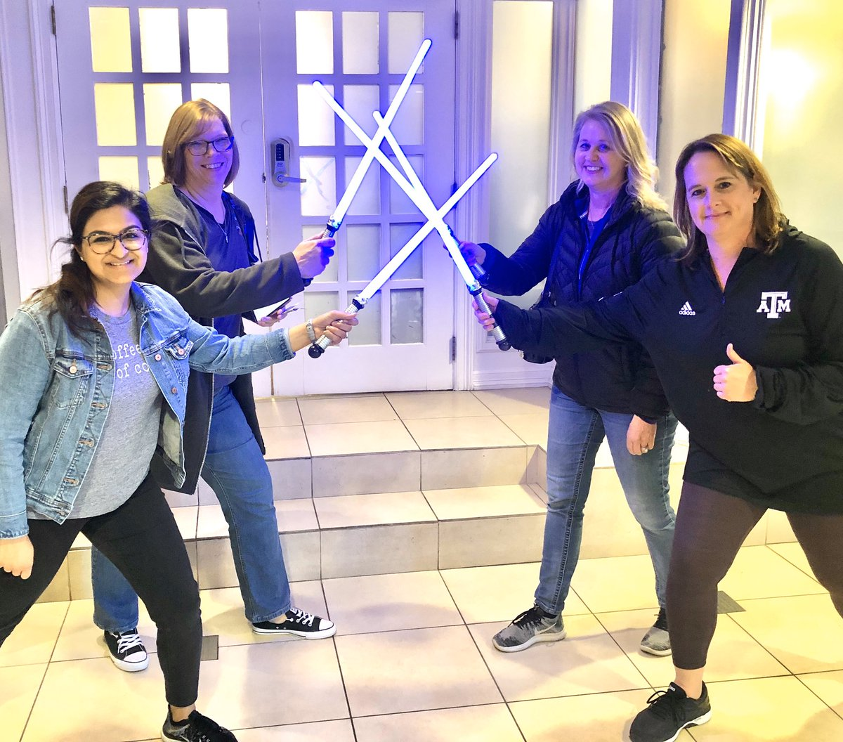 Ending the conference with the Force! @TCEA @CFBDLS @texasaggieamy @porterkarin @lkdelay #TCEA2020