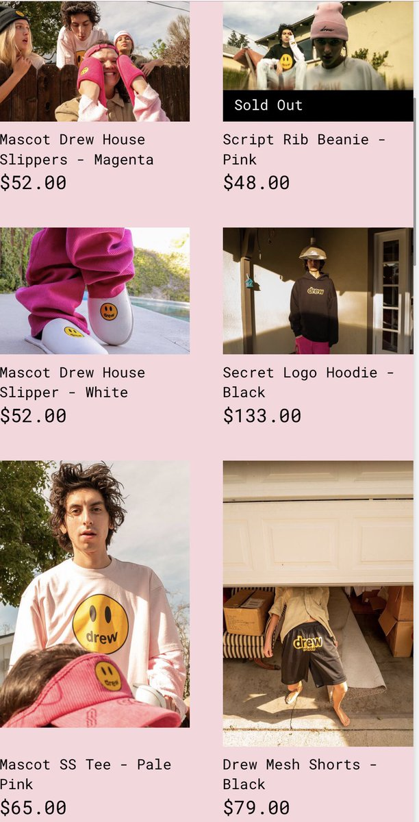 new @thehousedrew merch has dropped!   (february 7th, 2020)