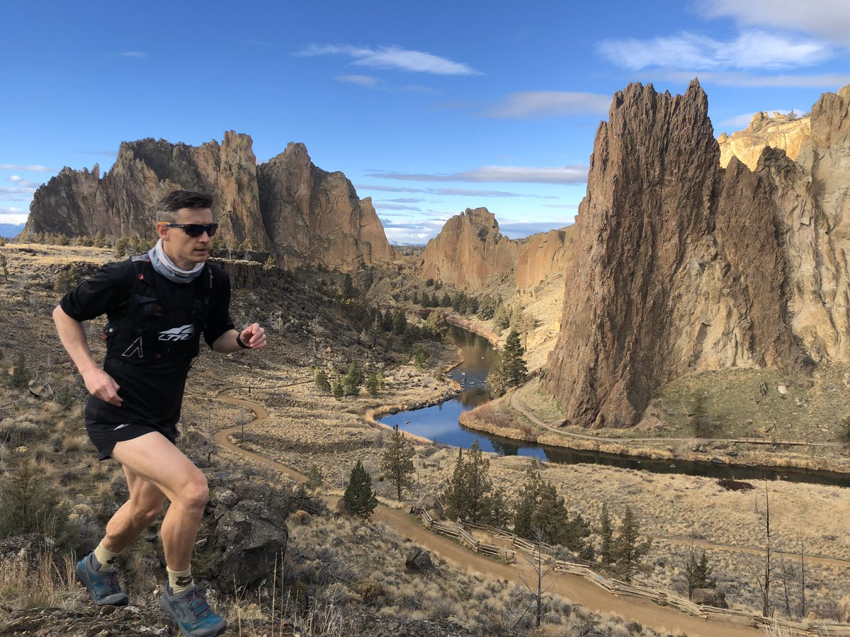 Looks almost too perfect at #SmithRock today and doesn't feel like winter. #nofilter #TeamAltra #SharmanUltraAthlete