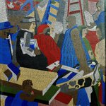 "Check out this mural by African American artist Jacob Lawrence titled ""Community,"" which was commissioned through the Art in Architecture Program for the Joseph P. Addabbo Fed Building in Queens, #NewYork @US_GSAR2 https://t.co/VolfxlbQqV #BlackHistoryMonth #MuralMondays"