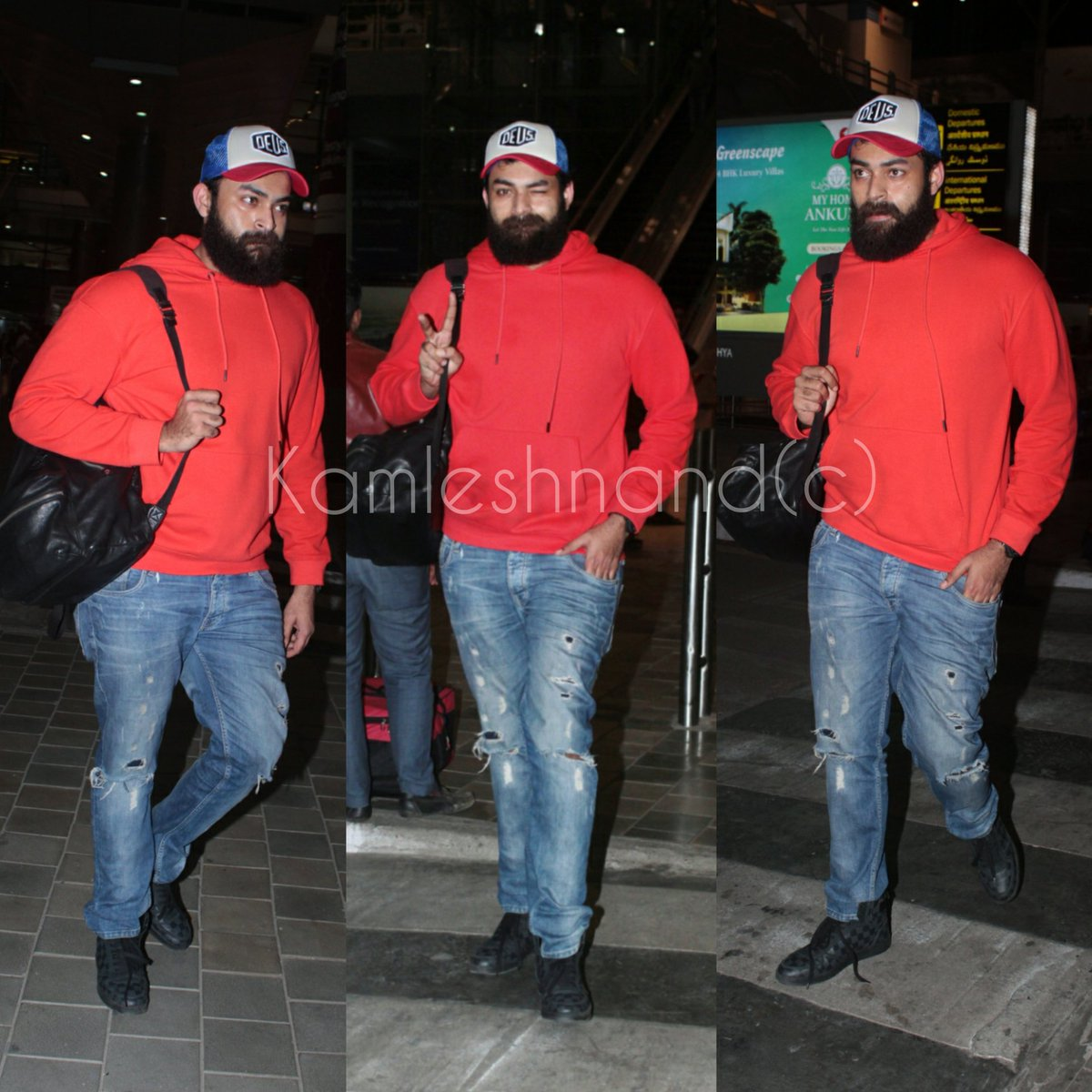 Handsome hunk #VarunTej papped at Rgia look cool in casual  gearing up for boxer @kamlesh_nand @IAmVarunTej #Tollywood #southcelebs pic.twitter.com/cHY006rPRb