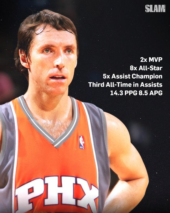 Happy birthday to Steve Nash.  True or false; he s a top-5 point guard ever.