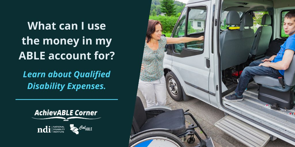 What can I use the money in my ABLE account for? Learn about Qualified Disability Expenses. nationaldisabilityinstitute.org/achievable-cor…