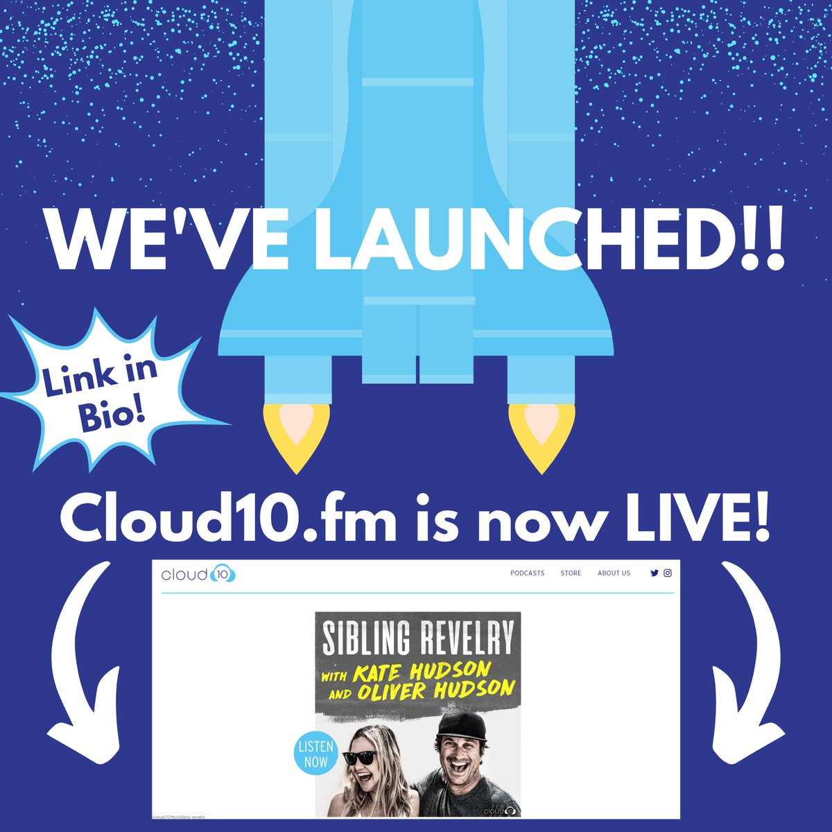 Our website, CLOUD10.FM, is now live!! Check it out! {link in bio!}