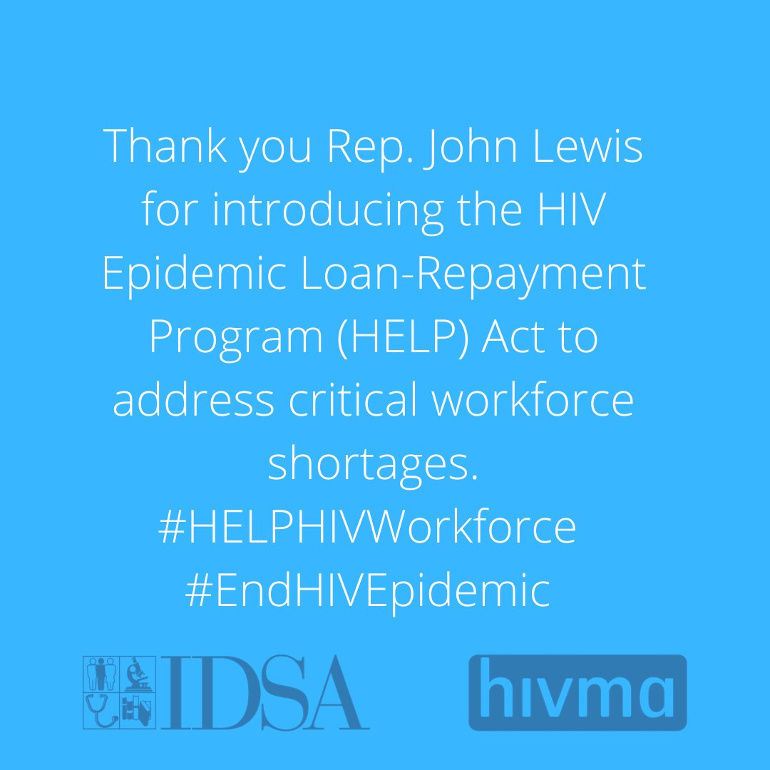A new loan repayment bill introduced by @repjohnlewis today will boost the # of #HIV healthcare workers in the US, ensuring that patients get the care they need. Learn how: bit.ly/HELPHIVWorkfor… #NBHAAD #StopHIVTogether #HELPHIVWorkforce