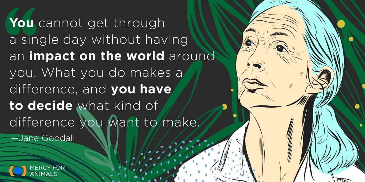 Activist @JaneGoodallInst is a passionate protector not only of the planet but also of animals. 🙌 Throughout her life, she has encouraged people to act compassionately.