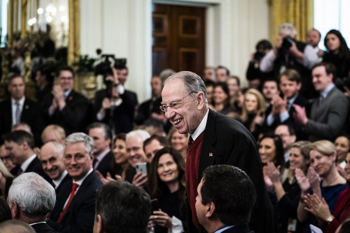 This photo of Senate Republicans laughing and applauding Trumps hateful vindictive speech was taken at yesterdays prayer breakfast. It was taken one day after Republicans voted to let Trump do anything he wants and one day before the Vindman brothers were fired.