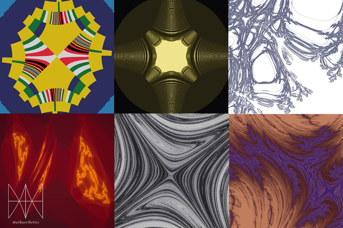 Six warped fractals, for Fractal Friday, made with #MathPaint! View full-sized images on the blog:  https:// blog.mathaesthetics.com/2020/02/fracta l-friday-20200207.html   …  #fractalfriday #mathaesthetics #generativeart #mathart #fractal #graphics #swiftlang #macosdeveloper #art #algorithmicart #macos<br>http://pic.twitter.com/Gz8dfrfgIW