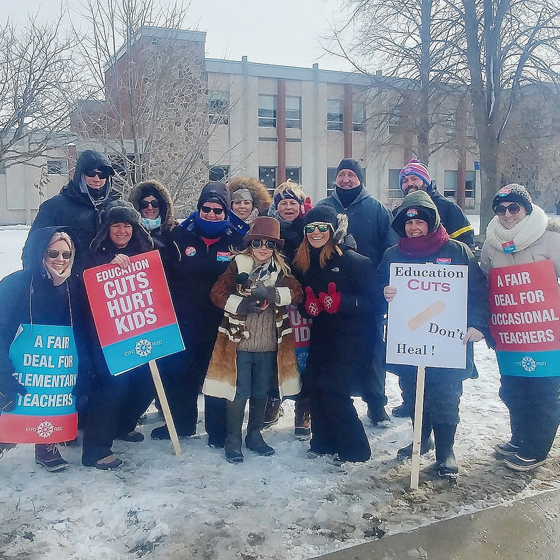 #ETFOstrike Photo