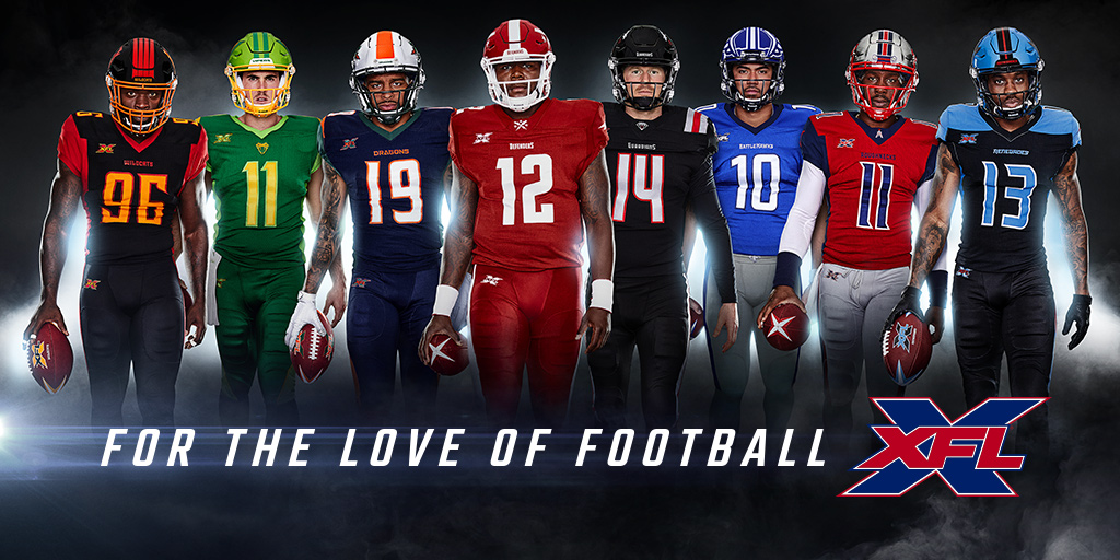 Today, @xfl2020 brings you more of the game you love as we kick off our inaugural season. We are beyond excited to hit the field. #ForTheLoveOfFootball