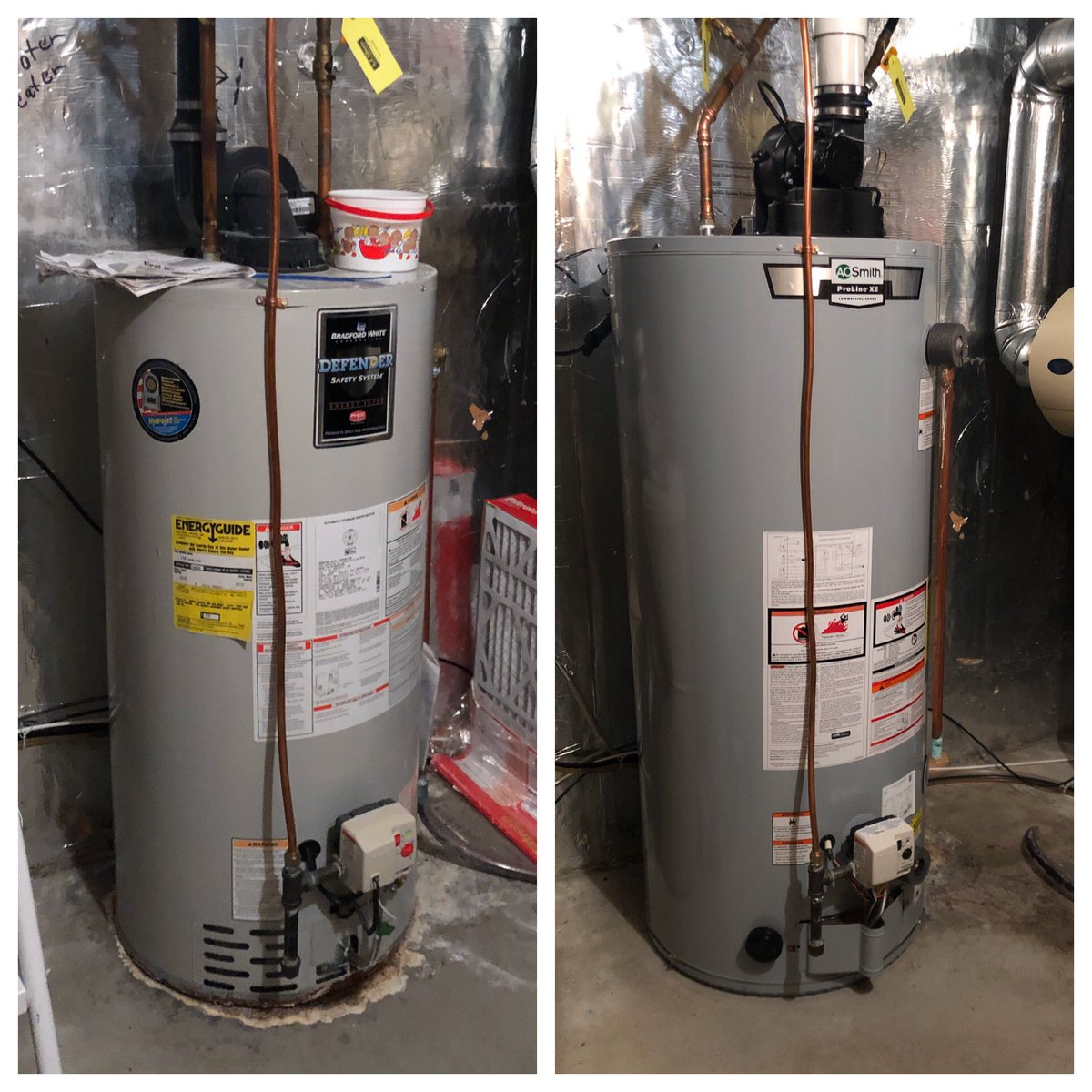John Kriesel On Twitter Thanks To Silvertreehvac We Replaced The Old 50 Gallon Water Heater With A New 75 Gallon And With The New Water Softener It Will Still Cost Wayyyyyy Less