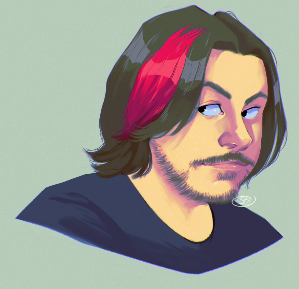 i'm still in this art funk but i had to draw the fresh pink lewk 💕✨ @egoraptor @GameGrumps