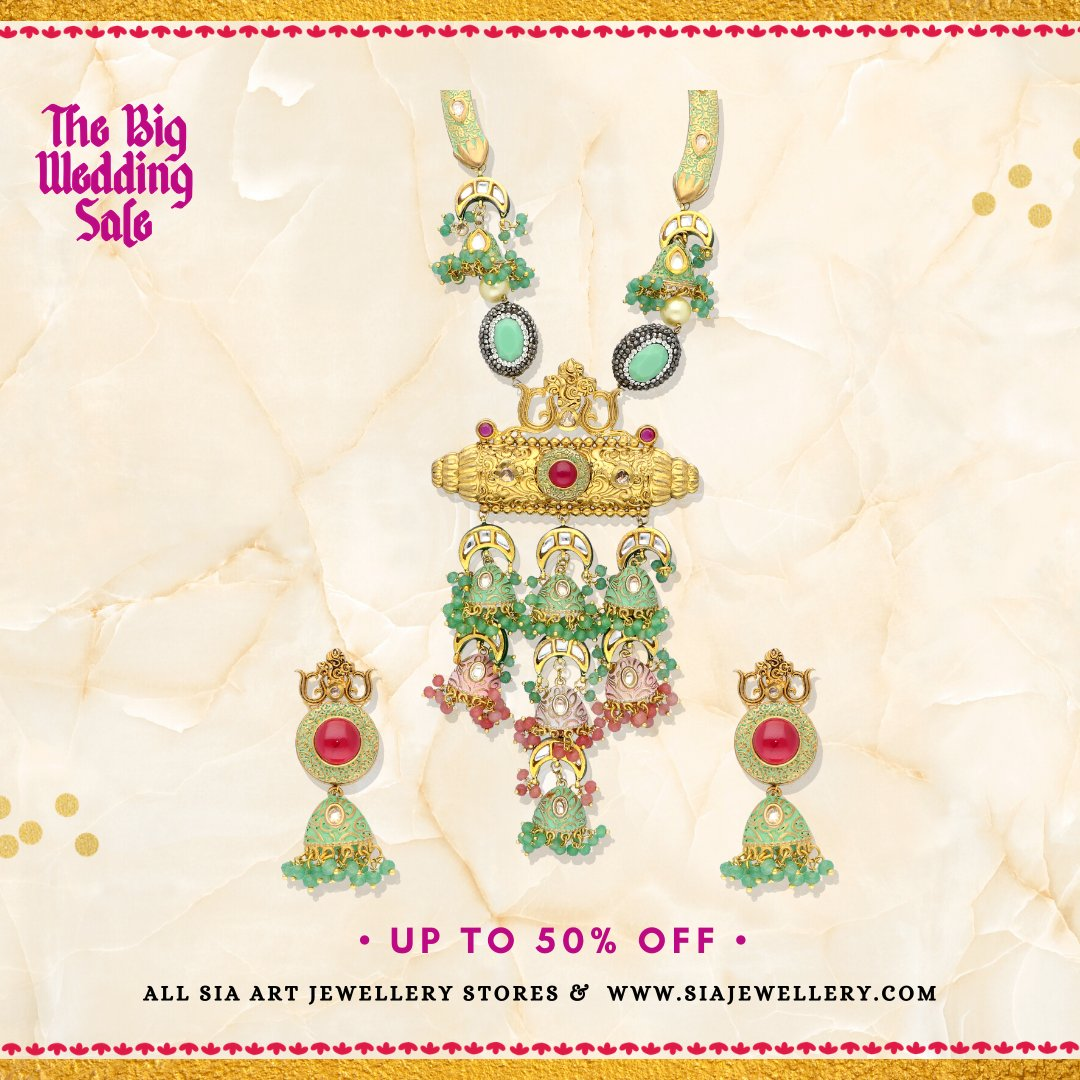 Sia Art Jewellery On Twitter Find Your Perfect Match This Season With Our Big Wedding Sale Get Up To 50 Off On Our Collection We Recommend This Uniquely Crafted Haasli Set Which