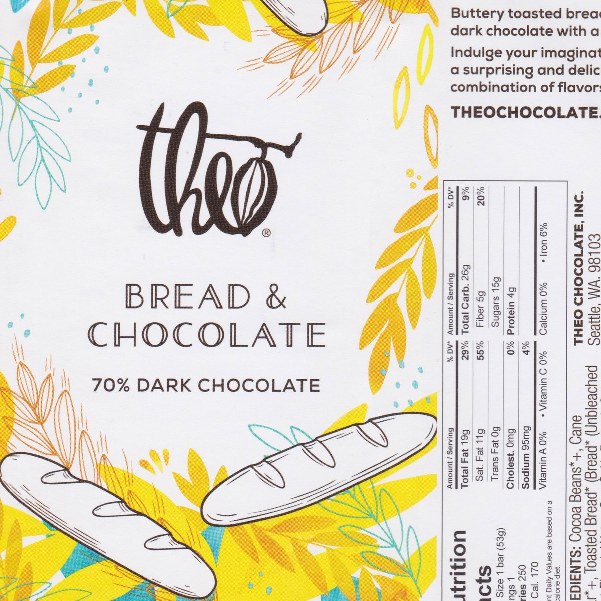 Theo dark chocolate & buttery toasted bread crumbs