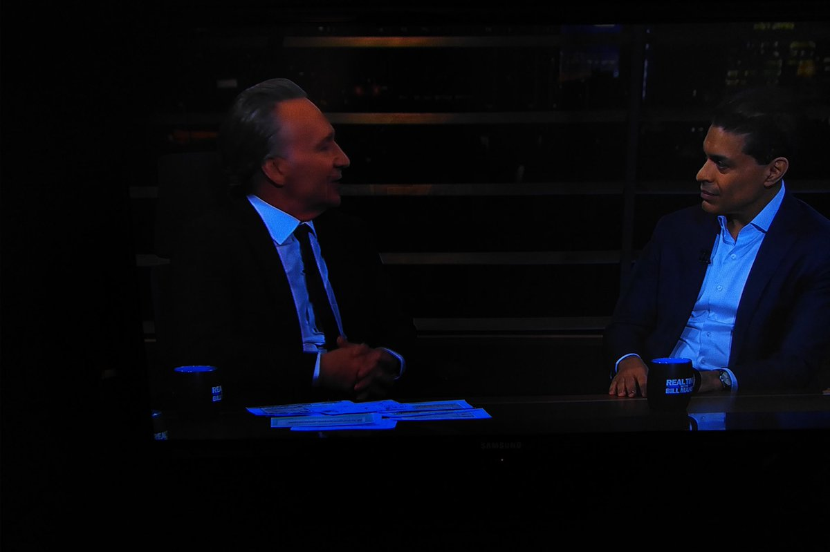 Tonight on @HBO: @FareedZakaria joins @billmaher's table for Real Time! #realtimers