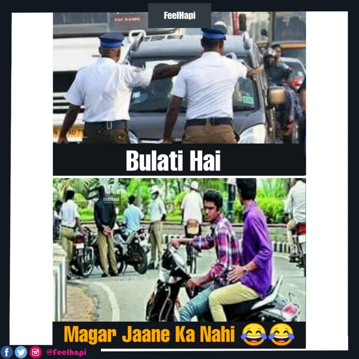 Jaane Ka Nahi  . . #feelhapi #trafficpolice #traffic #unbelievable #talent #deserve #tomandjerrymemes #tomandjerry #tom #jarry #dance #follow #like #rap #photography #talented #singing #fashion #entertainment #viral #trafficpolice #police #roadsafety #trafficpic.twitter.com/nYTJe4CcAe