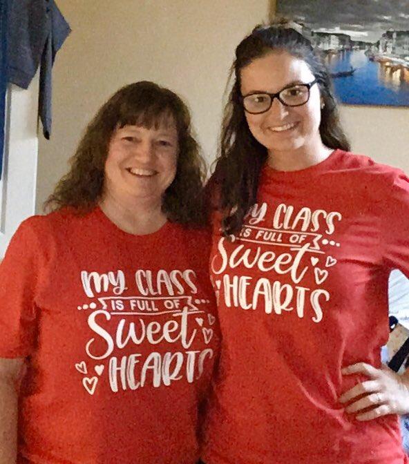 Ms. Flick & Miss Flick Twinning today! #2flicksteachingK #spsk12proud #hesteach