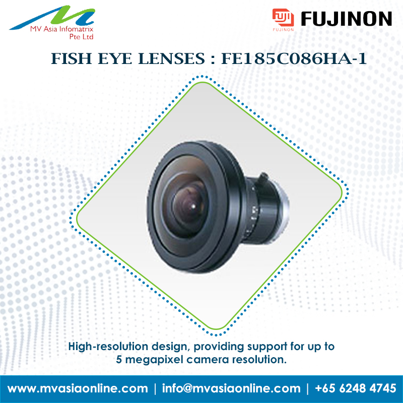 Fujinon  -  High-resolution design, providing support for up to 5 megapixel camera resolution.  FISH EYE LENSES : FE185C086HA-1  For more, contact us: http://www.mvasiaonline.com   |  info@mvasiaonline.com  |  Call us: +65 6248 4745  #MVASIA #Fujinon #FishiFocalLenses #Singaporepic.twitter.com/WZ6EKVX7NW