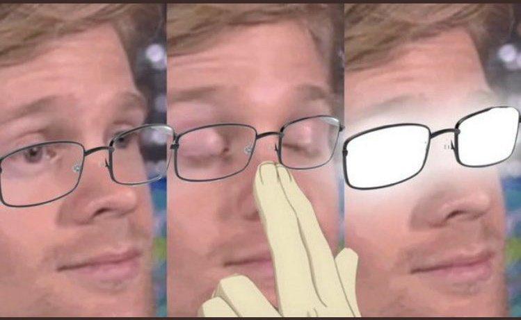 Reactions On Twitter Blinking Guy Adjusting Glasses With Glare Like Anime Guy