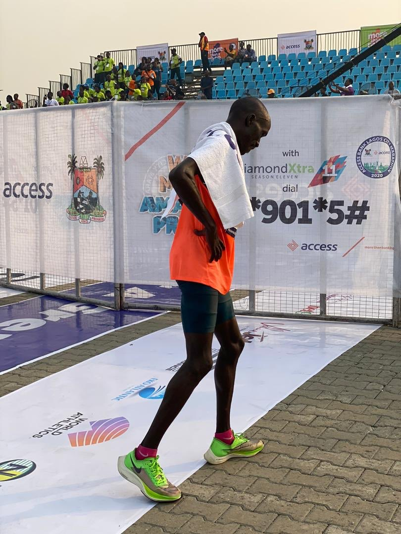 David Barmasai Tumo! Winner! Slayer of 42KM! It's More Than A Race!!! #MoreThanARace