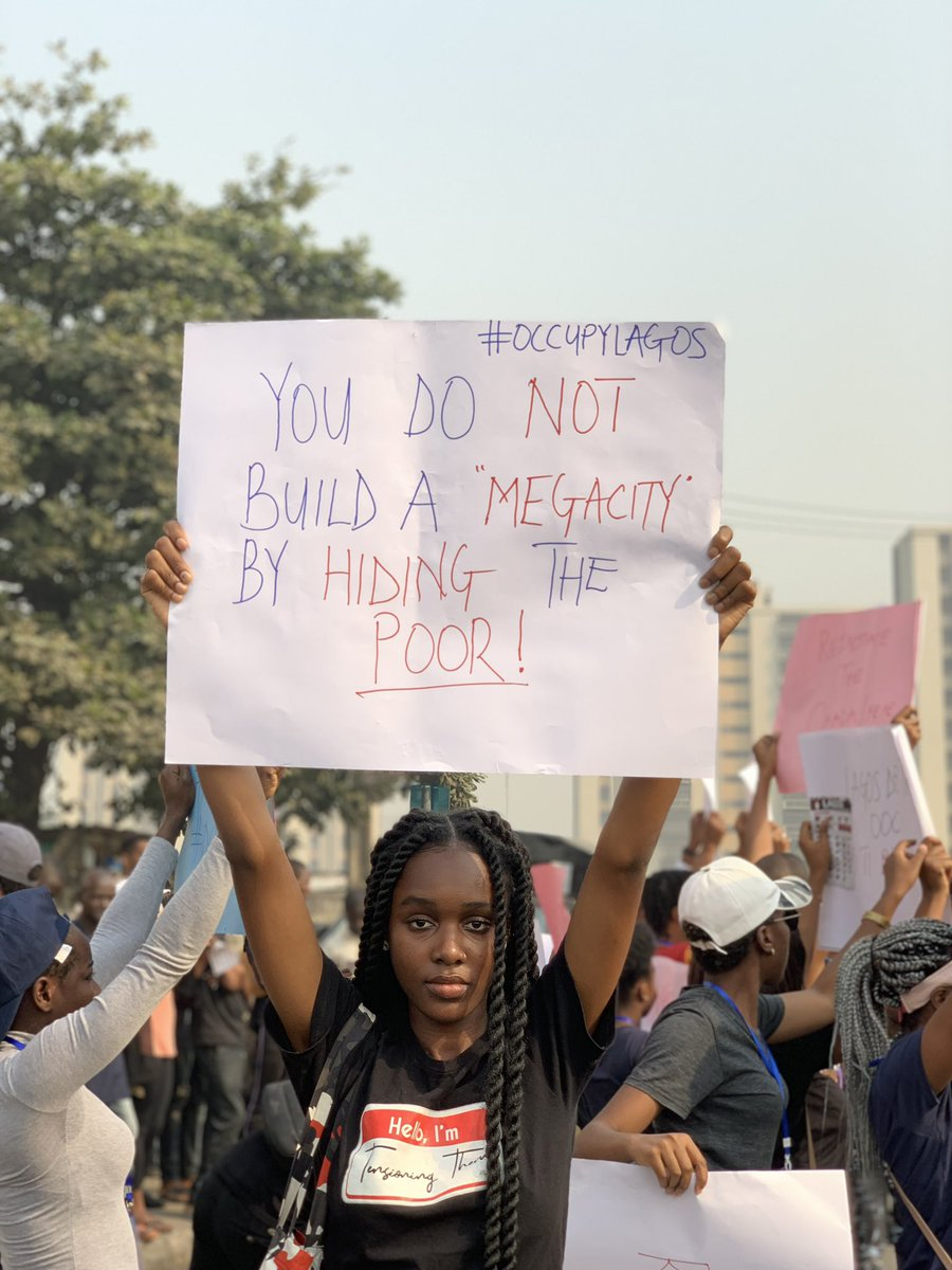 They cannot hear us loud enough through our phones. #OccupyLagos #OkadaBan