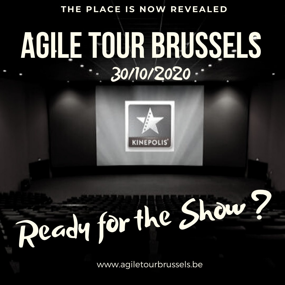 YES! The Secret is now revealed.  This year, join us on the October 30th at the Kinepolis Brussels for an Incredible Agile Conference !!!  Tickets available soooooonnn!!! https://t.co/Lq81IE90jD  #agile #tour #brussels #ATBru #ATBru2020 #agiletourbrussels #agiletour https://t.co/qHpBO5Mcfe