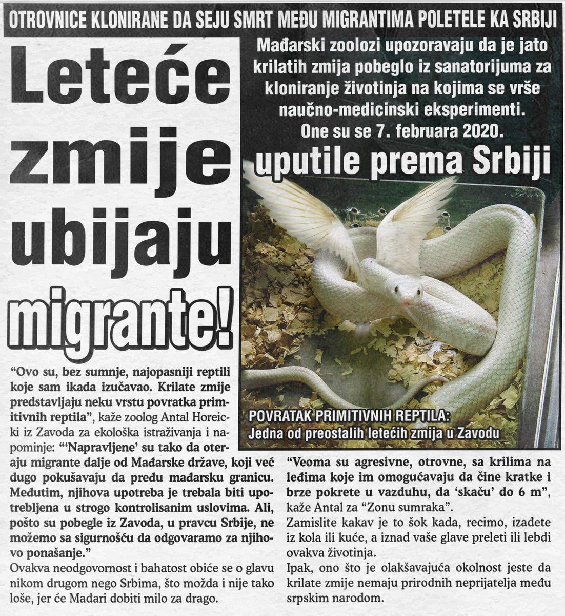 Leteće zmije ubijaju migrante!