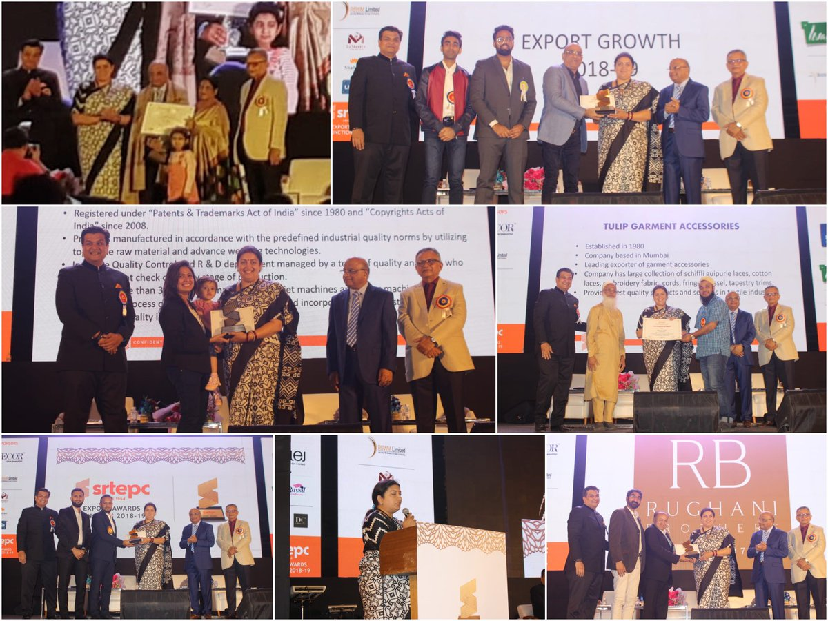 At the Synthetic & Rayon Textiles Export Promotion Council (SRTEPC) Export Awards in Mumbai, felicitated Exporters / Export Houses for their contribution to MMF sector of India's textile industry.