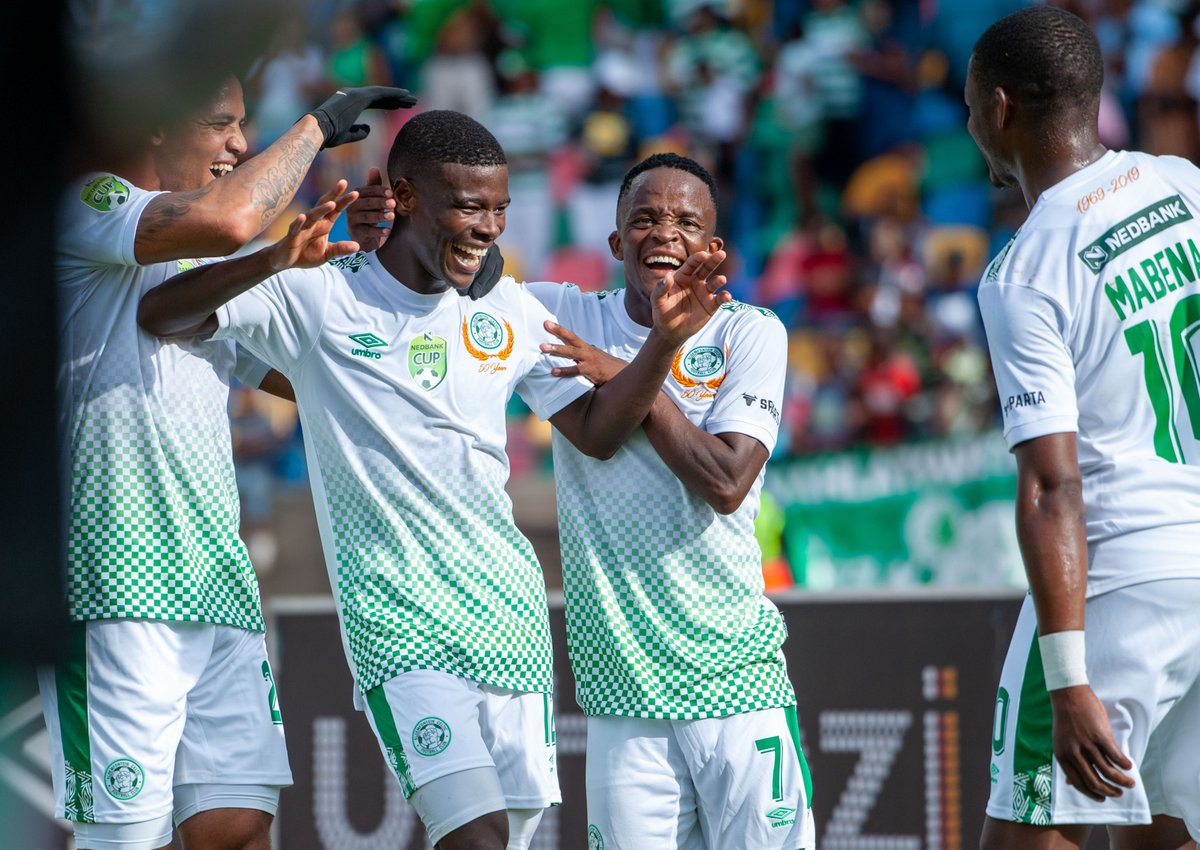 #NedbankCup - RESULTS: Amavarara 2-1 Super Eagles Bloem Celtic 4-1 AmaZulu Vaal University 2(6)-(5)2 Golden Arrows Kaizer Chiefs 1-0 Royal Eagles Mamelodi Sundowns 1-0 SuperSport United Highlands Park 2-0 Uthongathi
