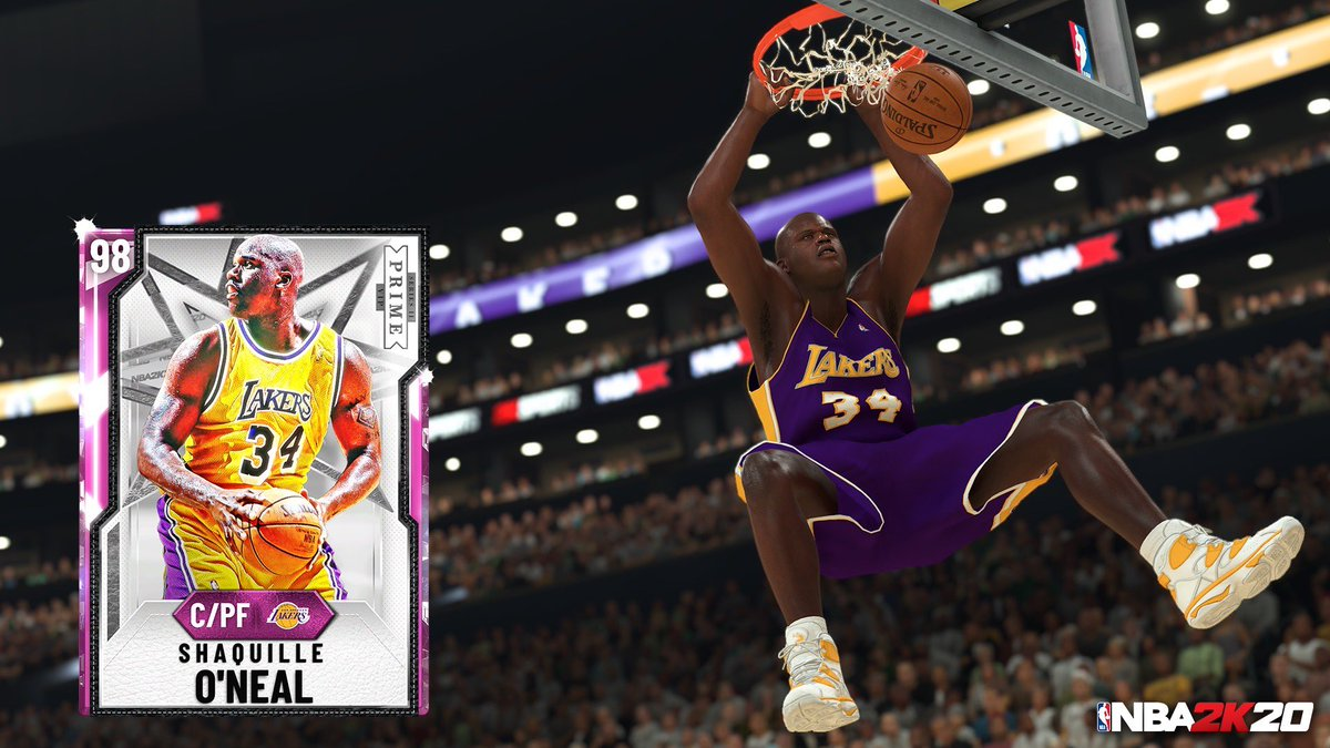 Who needs a Pink Diamond Shaq?? 💪🏿 My brotha @DwyaneWade 's PRIME Series Pack just dropped in @NBA2K_MyTEAM #ad