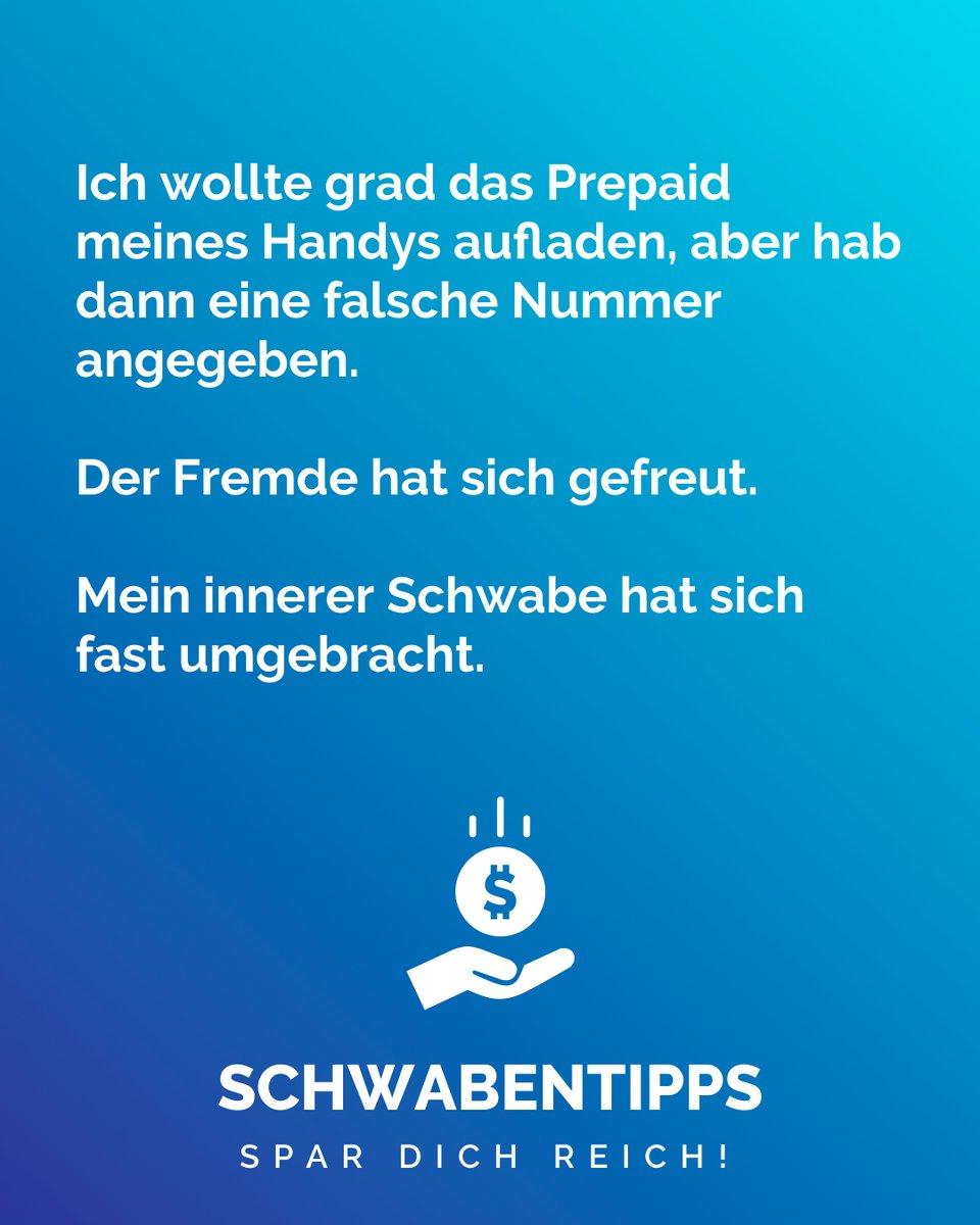 True Story #schwabentipps #schwabentipp #spardichreich #sparen #jodel #jodeldeutschland #sparsam #schwabe #geizkragen #sparfuchs #spartipps #spartipp #witzig #bestofjodel #sprüche #spruchdestages #lachen #weisheit #Prepaid #dummerfehler #passiert #kannmannichtsmachenpic.twitter.com/dUSEAL8zn8