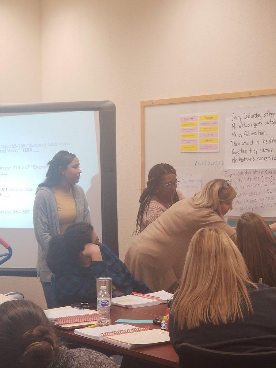FWISD Teachers modeling grammar lessons! Practice, practice, practice. Patterns of Power.