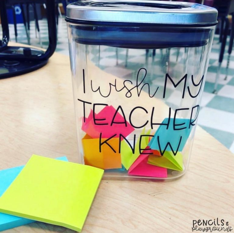 An empty jar + blank pieces of paper = a potentially life-changing classroom idea 💕