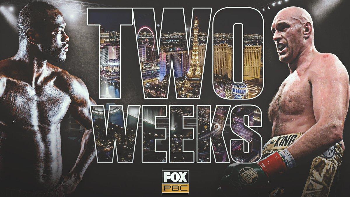 TWO WEEKS FROM TONIGHT 🥊   Buy #WilderFury2 now on the FOX Sports App. https://t.co/9N6bOJLcVf