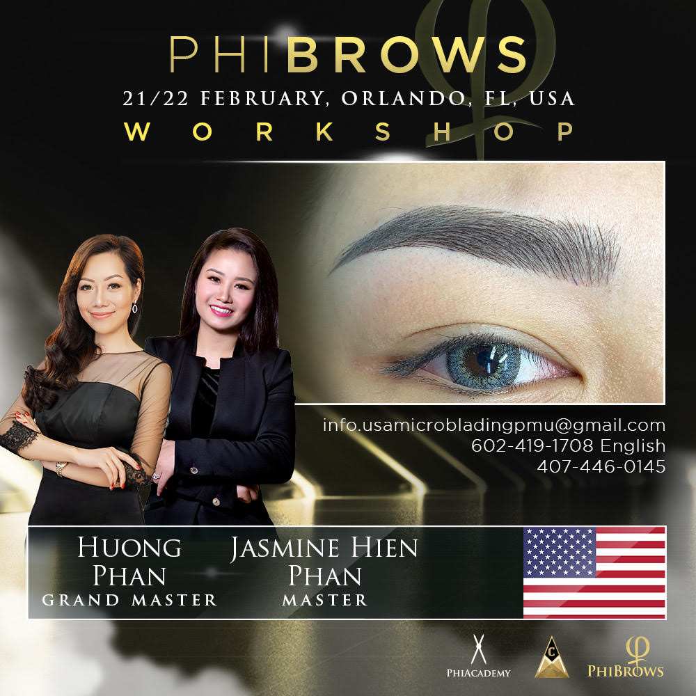 Learn how to become a PhiBrows artist with Grand Master Huong Phan and Master Jasmine Phan in Orlando, FL. Feb 21-22. ⁠  Call 602-419-1708⁠ or https://soo.nr/ZdmQ  ⁠ #phibrows #phibrowsartist #microblading #microbladingartist #phiacademy #phibrowstraining #phibrowsmasterpic.twitter.com/KNamdiBRFN